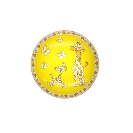 Потолочный светодиодный светильник Citilux Жирафы CL917001, LED 8W 3000K 520lm, хром, разноцветный, металл, стекло