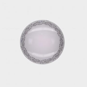 Потолочный светодиодный светильник Citilux Вьюнок CL917010, LED 8W 3000K 520lm, хром, белый, металл, стекло - миниатюра 2