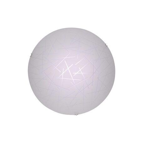 Потолочный светодиодный светильник Citilux Крона CL918061, LED 12W 3000K 780lm, хром, белый, металл, стекло