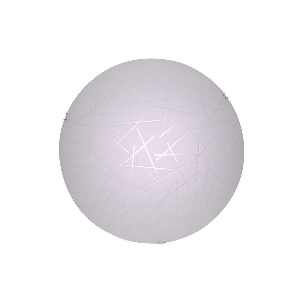 Потолочный светодиодный светильник Citilux Крона CL918061, LED 12W 3000K 780lm, хром, белый, металл, стекло - фото 1