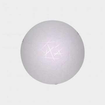 Потолочный светодиодный светильник Citilux Крона CL918061, LED 12W 3000K 780lm, хром, белый, металл, стекло - миниатюра 2