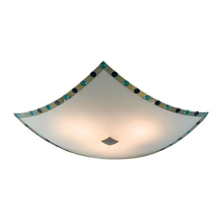 Потолочный светильник Citilux Конфетти CL931303, 3xE27x100W, хром, синий, голубой, металл, стекло