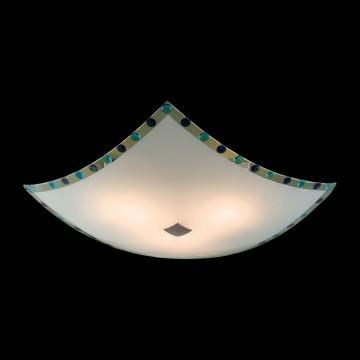 Потолочный светильник Citilux Конфетти CL931303, 3xE27x100W, хром, синий, голубой, металл, стекло - миниатюра 2