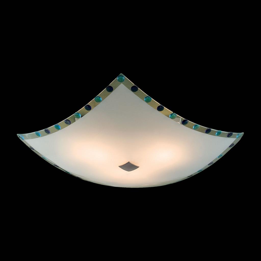 Потолочный светильник Citilux Конфетти CL931303, 3xE27x100W, хром, синий, голубой, металл, стекло - фото 2