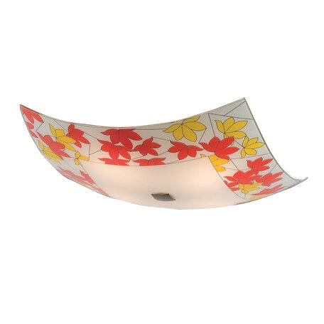 Потолочный светильник Citilux Осень CL932008, 4xE27x100W, бронза, разноцветный, металл, стекло