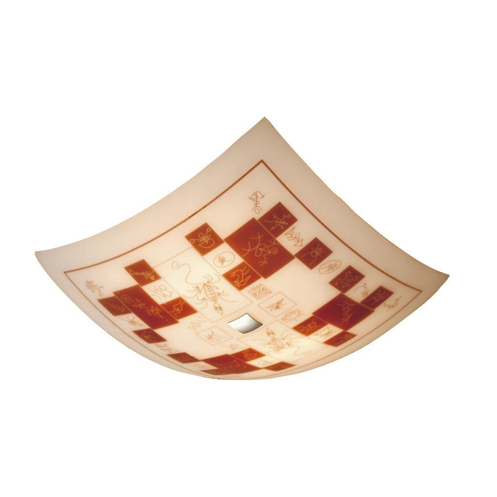 Потолочный светильник Citilux Доминикана CL932020, 4xE27x100W, хром, оранжевый, металл, стекло - фото 1