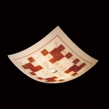 Потолочный светильник Citilux Доминикана CL932020, 4xE27x100W, хром, оранжевый, металл, стекло - миниатюра 2