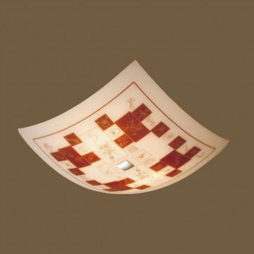Потолочный светильник Citilux Доминикана CL932020, 4xE27x100W, хром, оранжевый, металл, стекло - миниатюра 3