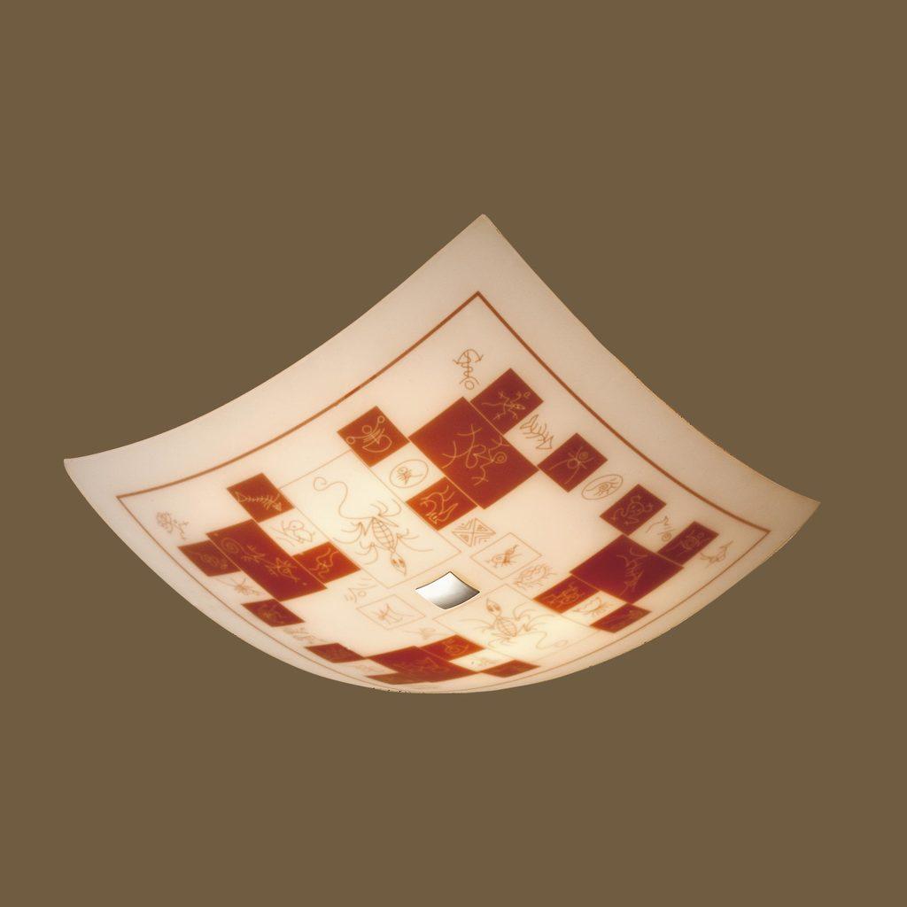 Потолочный светильник Citilux Доминикана CL932020, 4xE27x100W, хром, оранжевый, металл, стекло - фото 3
