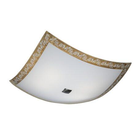 Потолочный светильник Citilux Узор CL932024, 4xE27x100W, хром, бежевый, металл, стекло