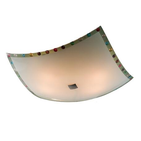 Потолочный светильник Citilux Конфетти CL932301, 4xE27x100W, хром, разноцветный, металл, стекло