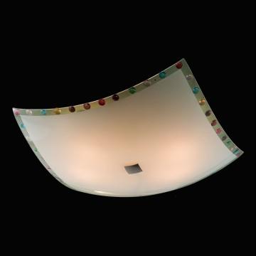 Потолочный светильник Citilux Конфетти CL932301, 4xE27x100W, хром, разноцветный, металл, стекло - миниатюра 2