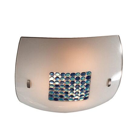 Потолочный светильник Citilux Конфетти CL933031, 3xE27x100W, хром, синий, голубой, металл, стекло