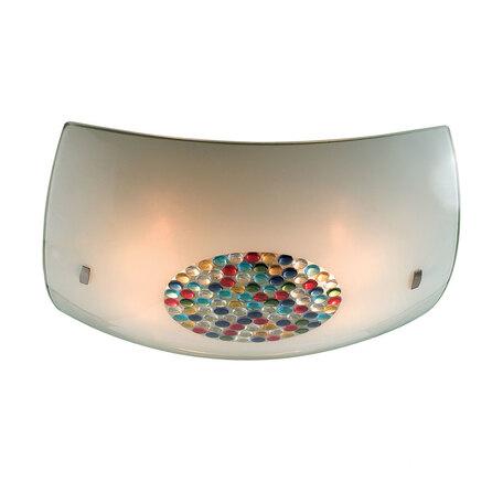 Потолочный светильник Citilux Конфетти CL934031, 4xE27x100W, хром, разноцветный, металл, стекло
