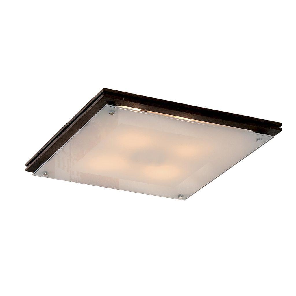 Потолочный светильник Citilux CL938541, 4xE27x100W, венге, белый, дерево, стекло - фото 1