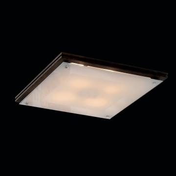 Потолочный светильник Citilux CL938541, 4xE27x100W, венге, белый, дерево, стекло - миниатюра 2