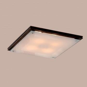 Потолочный светильник Citilux CL938541, 4xE27x100W, венге, белый, дерево, стекло - миниатюра 3