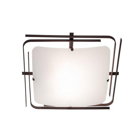 Потолочный светильник Citilux Спутник CL939201, 2xE27x100W, венге, белый, металл, стекло - миниатюра 1