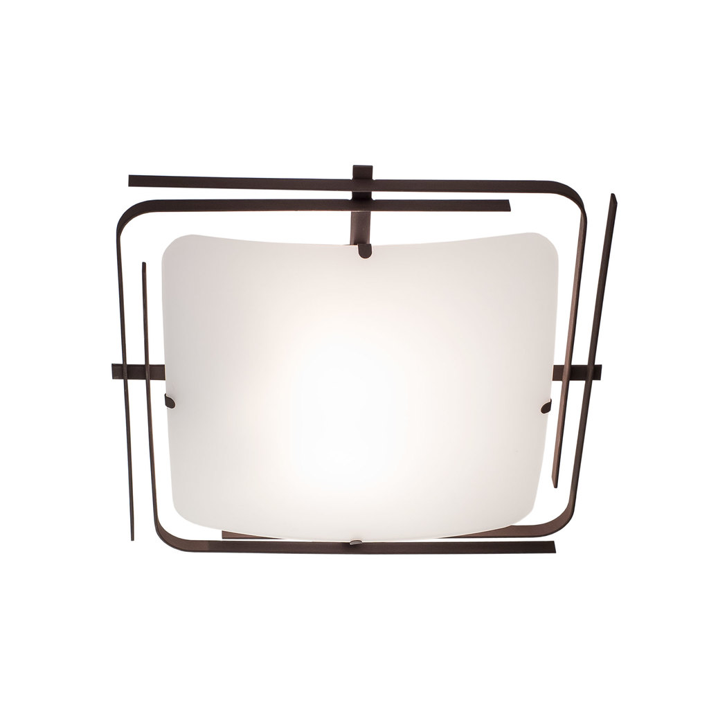 Потолочный светильник Citilux Спутник CL939201, 2xE27x100W, венге, белый, металл, стекло - фото 1