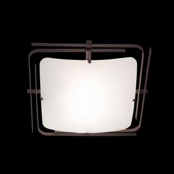 Потолочный светильник Citilux Спутник CL939201, 2xE27x100W, венге, белый, металл, стекло - миниатюра 2