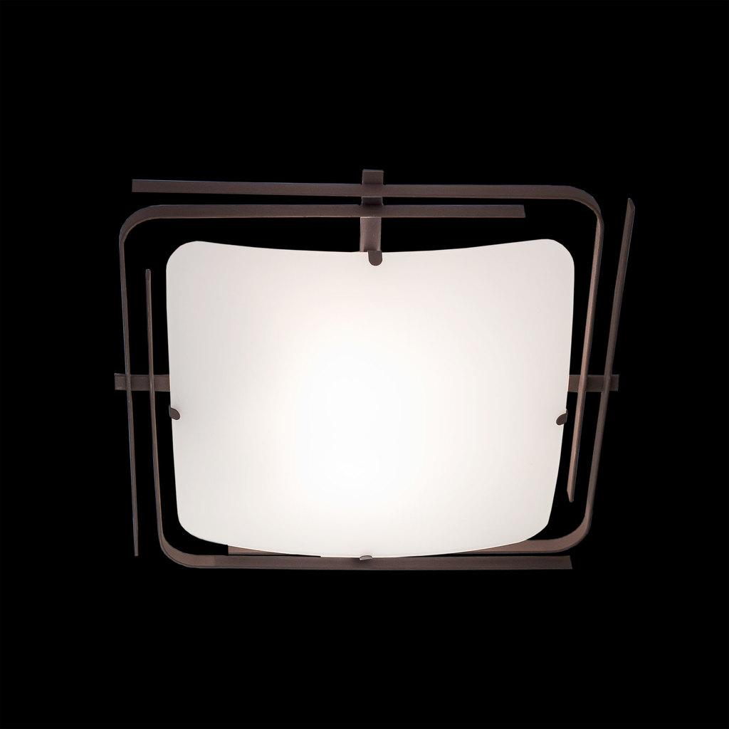 Потолочный светильник Citilux Спутник CL939201, 2xE27x100W, венге, белый, металл, стекло - фото 2