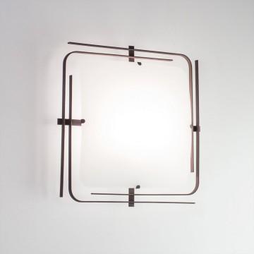 Потолочный светильник Citilux Спутник CL939201, 2xE27x100W, венге, белый, металл, стекло - миниатюра 3