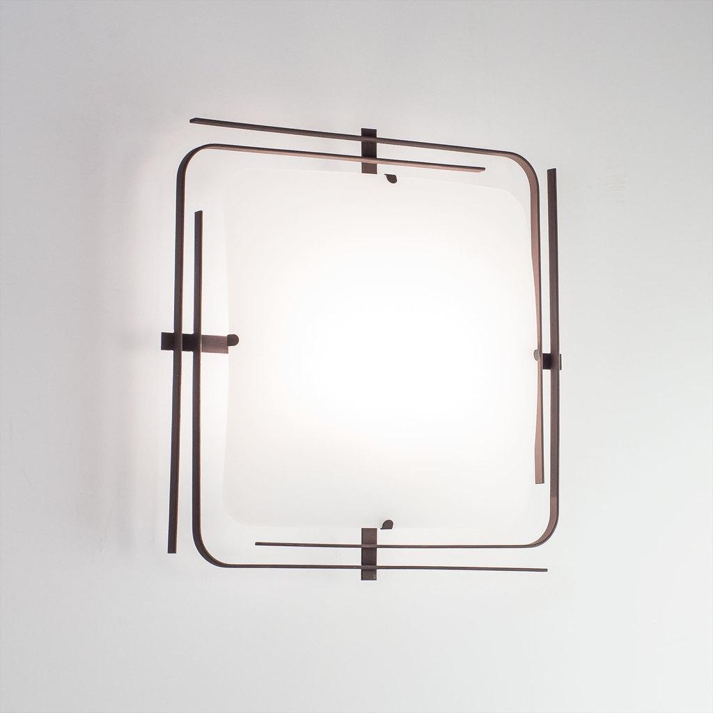 Потолочный светильник Citilux Спутник CL939201, 2xE27x100W, венге, белый, металл, стекло - фото 3
