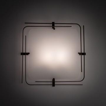 Потолочный светильник Citilux Спутник CL939201, 2xE27x100W, венге, белый, металл, стекло - миниатюра 5
