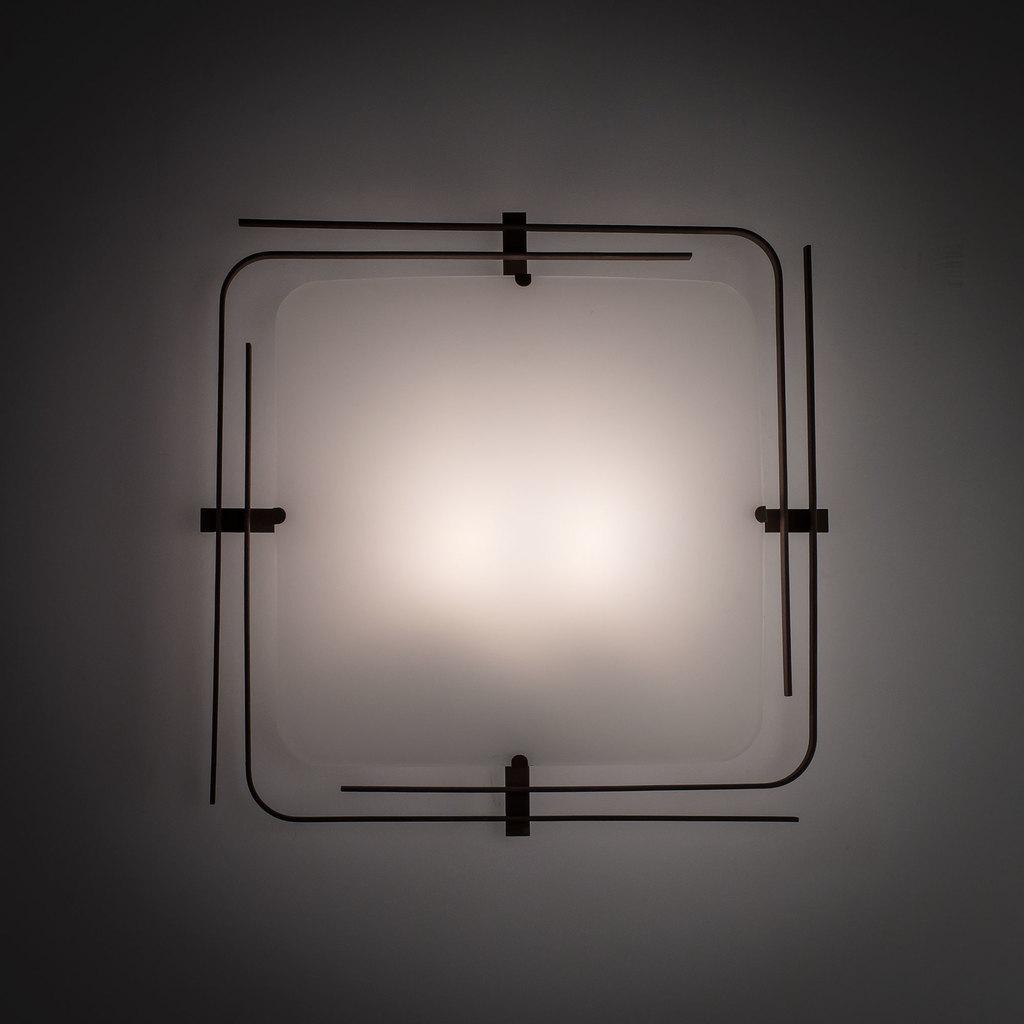 Потолочный светильник Citilux Спутник CL939201, 2xE27x100W, венге, белый, металл, стекло - фото 5