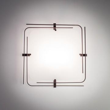 Потолочный светильник Citilux Спутник CL939201, 2xE27x100W, венге, белый, металл, стекло - миниатюра 6