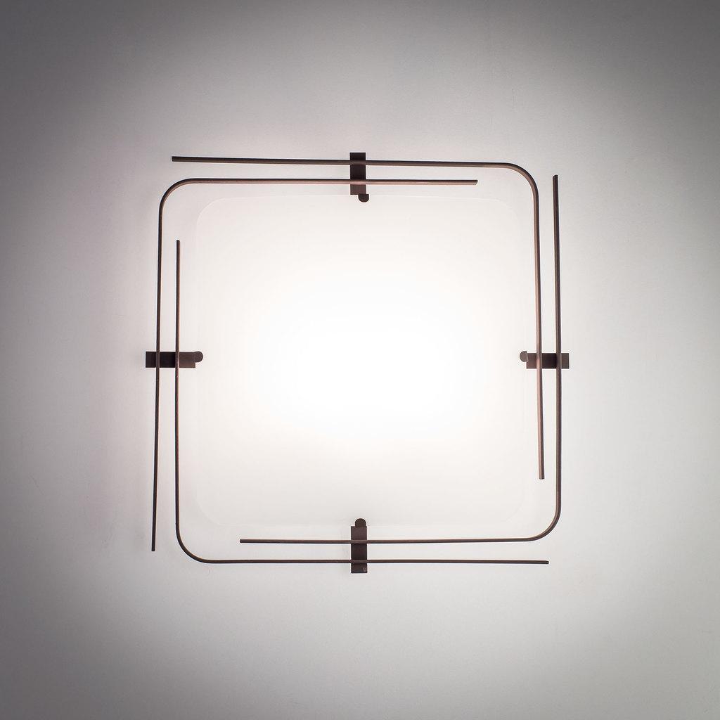 Потолочный светильник Citilux Спутник CL939201, 2xE27x100W, венге, белый, металл, стекло - фото 6