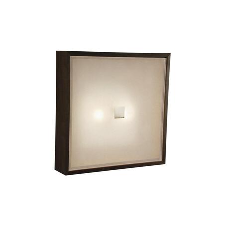 Потолочный светильник Citilux Кваттро CL940311, 2xE14x60W, белый, венге, дерево, стекло