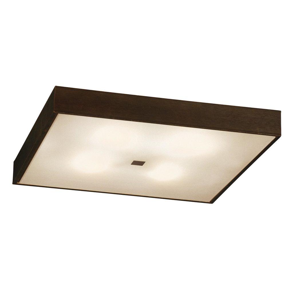 Потолочный светильник Citilux Кваттро CL940411, 4xE27x100W, белый, венге, дерево, стекло - фото 1