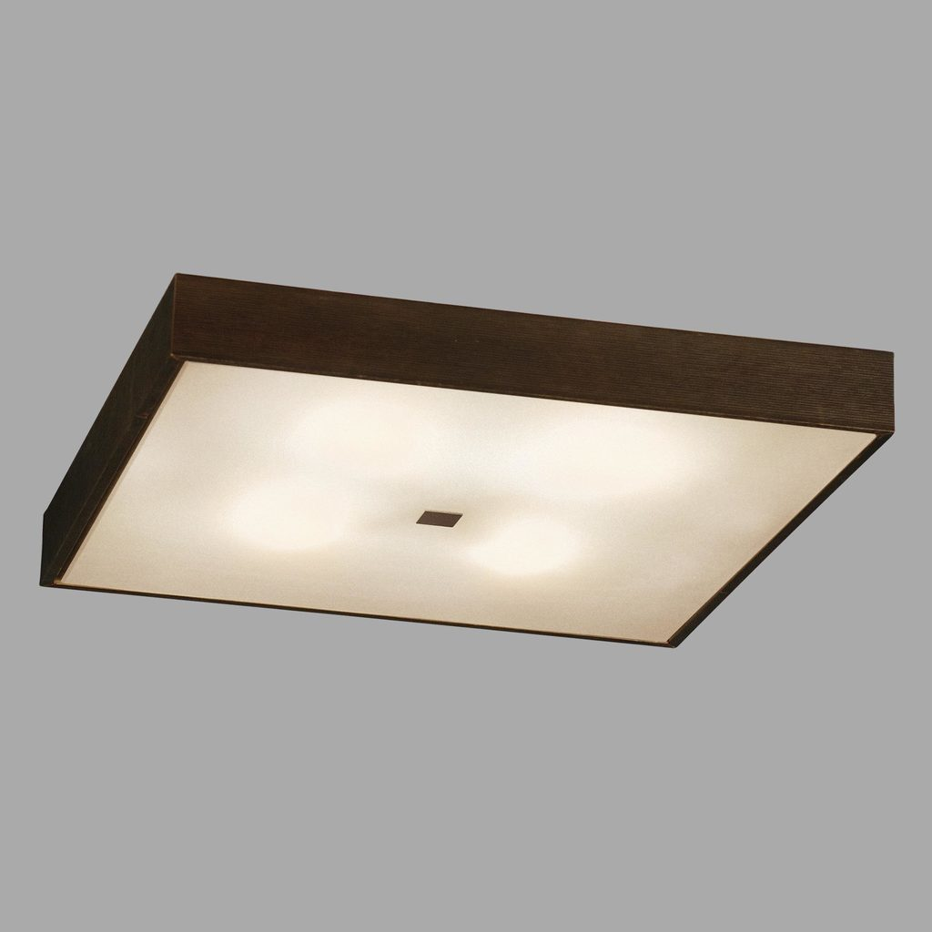 Потолочный светильник Citilux Кваттро CL940411, 4xE27x100W, белый, венге, дерево, стекло - фото 3