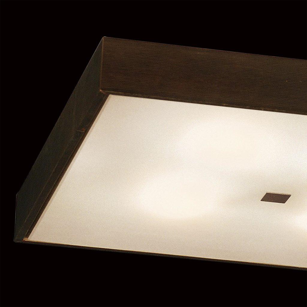 Потолочный светильник Citilux Кваттро CL940411, 4xE27x100W, белый, венге, дерево, стекло - фото 4