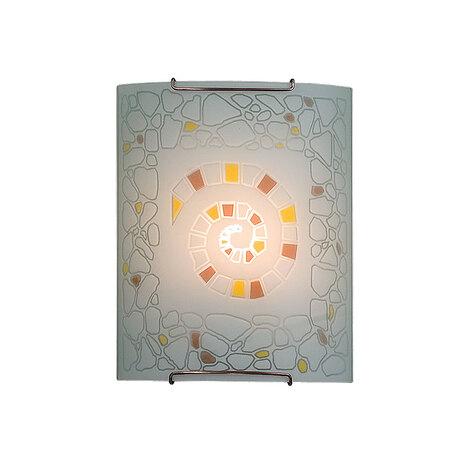 Настенный светильник Citilux Улитка CL921111, 1xE27x100W, хром, разноцветный, металл, стекло - миниатюра 1