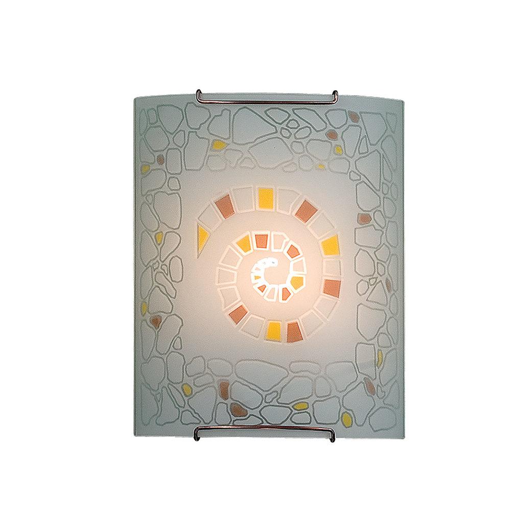 Настенный светильник Citilux Улитка CL921111, 1xE27x100W, хром, разноцветный, металл, стекло - фото 1