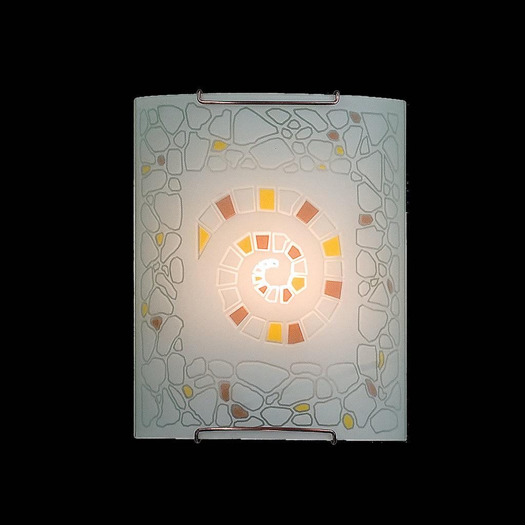 Настенный светильник Citilux Улитка CL921111, 1xE27x100W, хром, разноцветный, металл, стекло - фото 2