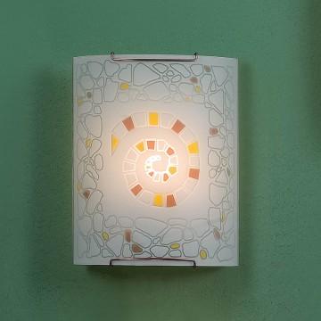Настенный светильник Citilux Улитка CL921111, 1xE27x100W, хром, разноцветный, металл, стекло - миниатюра 3