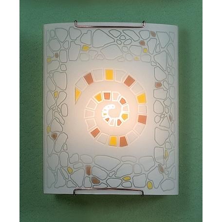 Настенный светильник Citilux Улитка CL921111W, 1xE27x100W, хром, разноцветный, металл, стекло