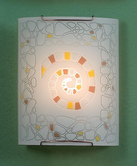 Настенный светильник Citilux Улитка CL921111W, 1xE27x100W, хром, разноцветный, металл, стекло - фото 1