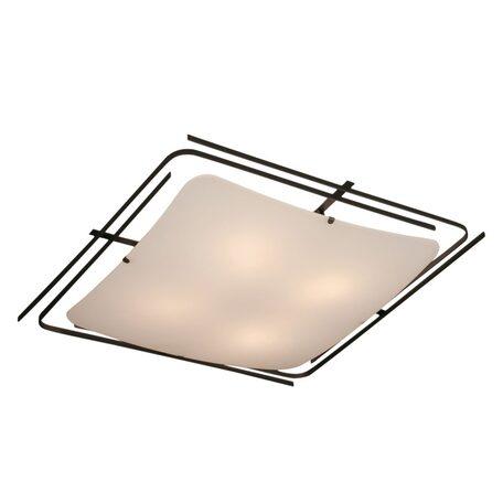 Потолочный светильник Citilux Спутник CL939401, 4xE27x100W, венге, белый, металл, стекло - миниатюра 1