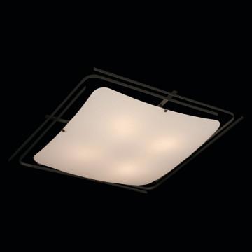 Потолочный светильник Citilux Спутник CL939401, 4xE27x100W, венге, белый, металл, стекло - миниатюра 2