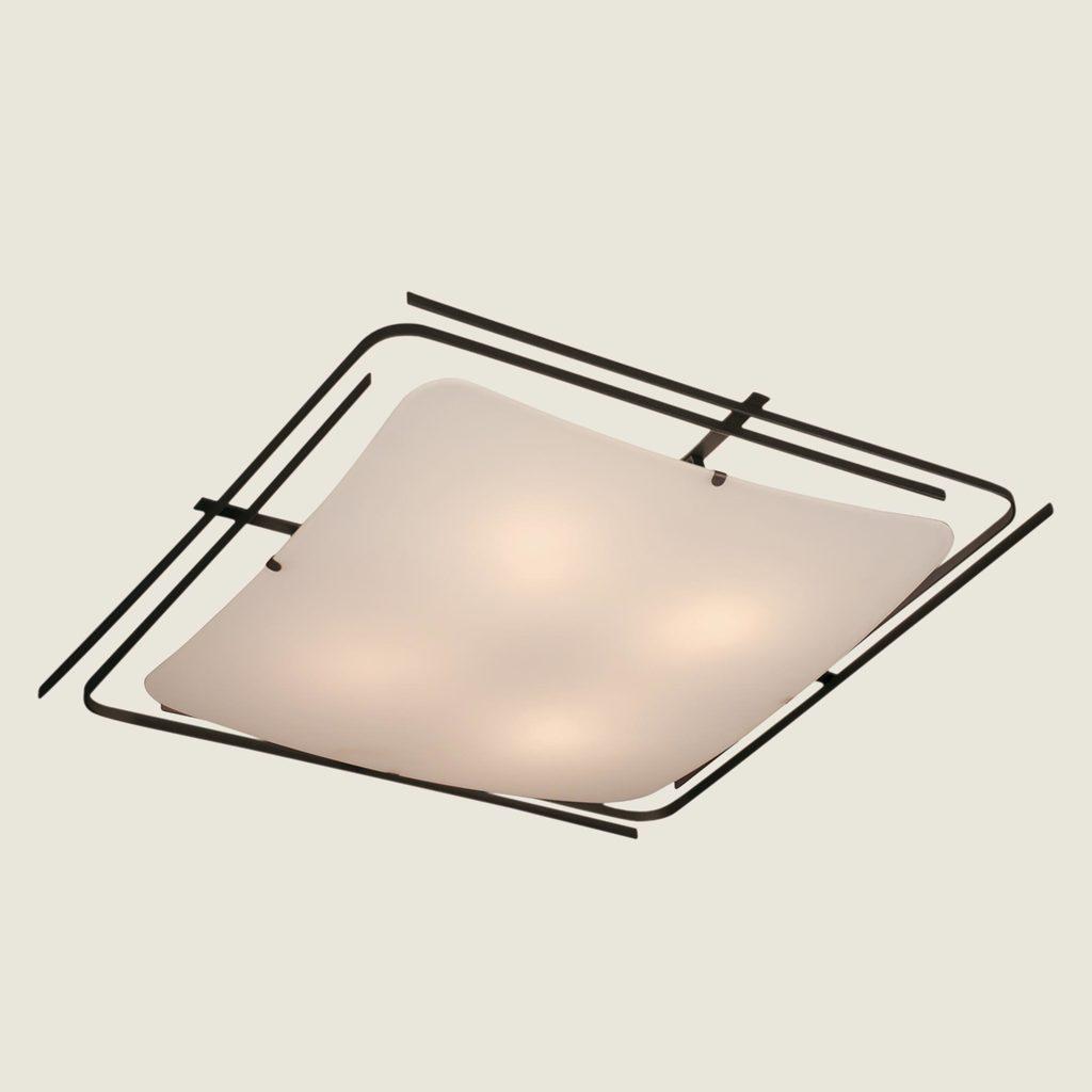 Потолочный светильник Citilux Спутник CL939401, 4xE27x100W, венге, белый, металл, стекло - фото 3