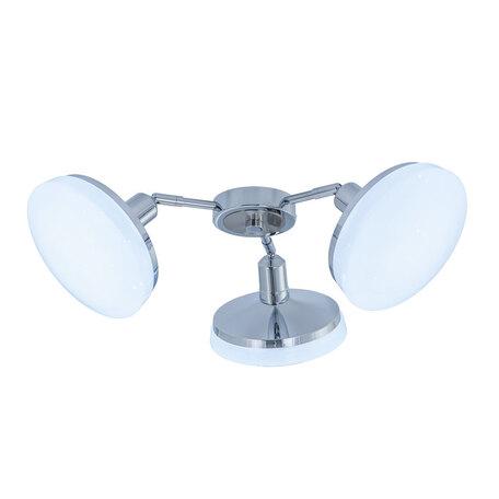 Потолочная светодиодная люстра с регулировкой направления света Citilux Тамбо CL716231Nz, LED 36W 4000K 3000lm, хром, белый, металл, пластик