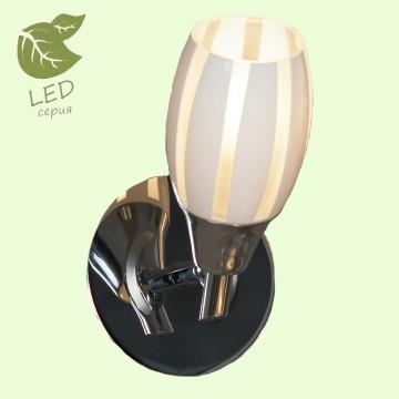 Настенный светильник с регулировкой направления света Lussole Brindidi GRLSX-6701-01, IP21, 1xE14x6W, хром, белый, металл, стекло