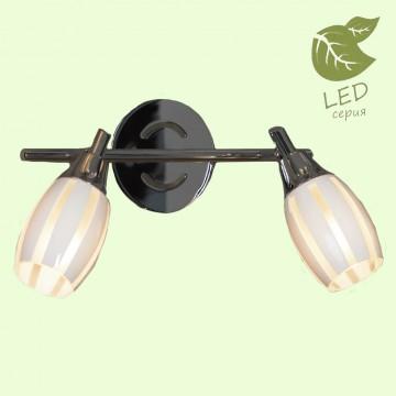 Потолочный светильник с регулировкой направления света Lussole Brindidi GRLSX-6701-02, IP21, 2xE14x6W, хром, белый, металл, стекло