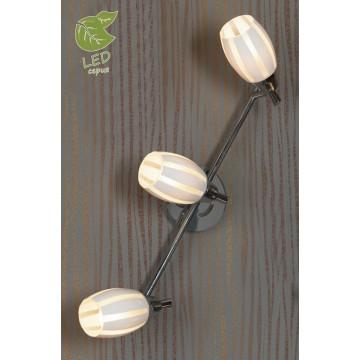 Потолочный светильник с регулировкой направления света Lussole Brindidi GRLSX-6701-03, IP21, 3xE14x6W, хром, белый, металл, стекло