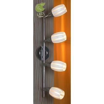 Потолочный светильник с регулировкой направления света Lussole Brindidi GRLSX-6709-04, IP21, 4xE14x6W, хром, белый, металл, стекло