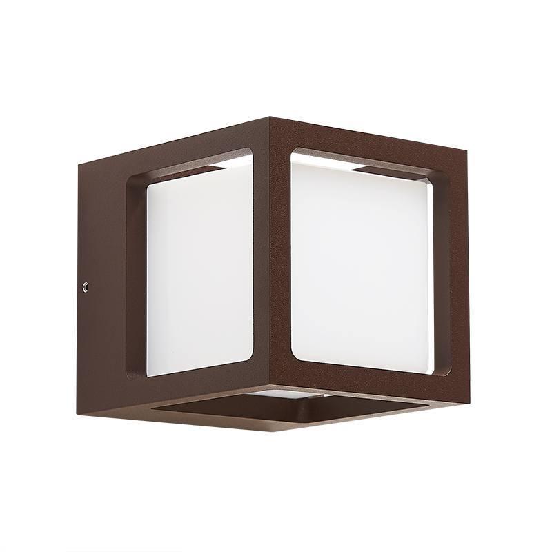 Настенный светодиодный светильник L'Arte Luce Zor L80181.44, IP54 3000K (теплый), коричневый, белый, металл, пластик - фото 1